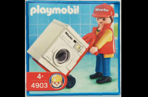 Playmobil repartidor Miele promocional