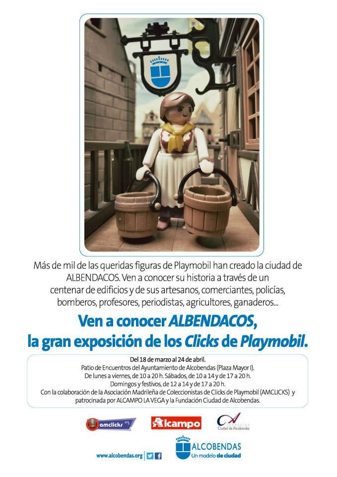 ALBENDACOS, exposición de Playmobil en Alcobendas