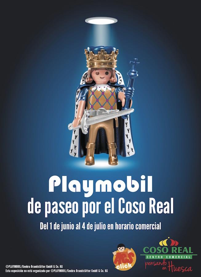 Playmobil de paseo por el Coso Real, Huesca
