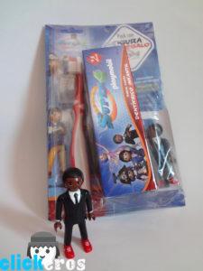 Pasta de dientes, cepillo + figura Playmobil Super4